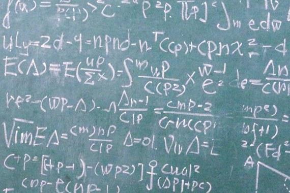 数式を書いた黒板