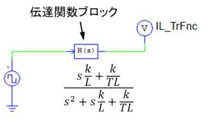 伝達関数シミュレーション回路